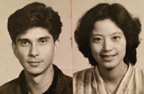 Father and mother angelababy