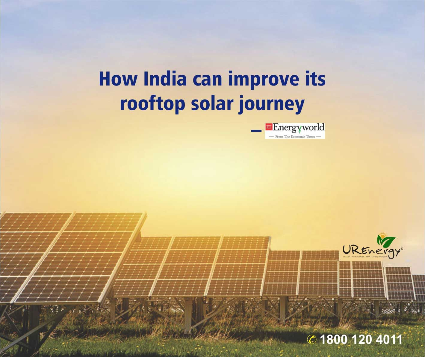 Solar Rooftop Panel Inverter Future India Energy For More Information Www Urenergyglobal Com Call Us Toll Free 1800 120 4011 Solar Energy Rooftop