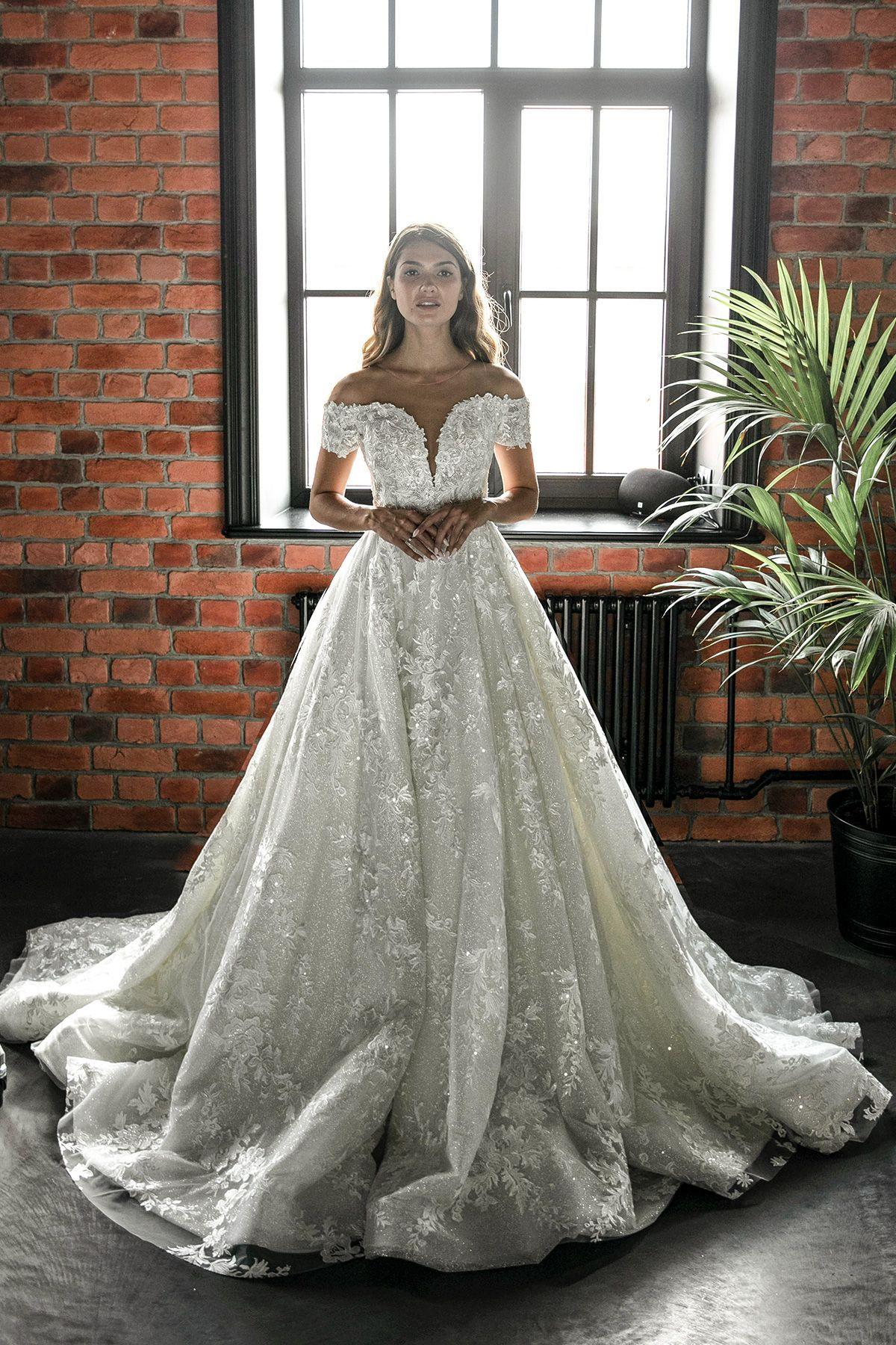 Airis By Olivia Bottega Ball Skirt Wedding Dress Glitter Etsy Glitter Wedding Dress Ball Dresses Off Shoulder Wedding Dress [ 1800 x 1200 Pixel ]
