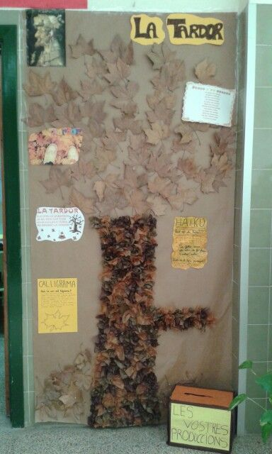 Model of autumn for decorate the door. By Neus
