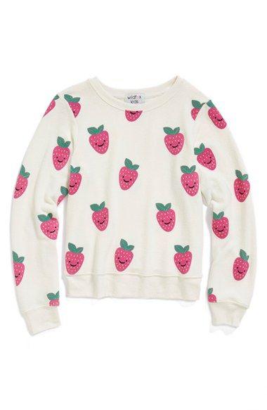 Wildfox 'Happy Berries - Baggy Beach Jumper' Sweatshirt (Big Girls) available at #Nordstrom