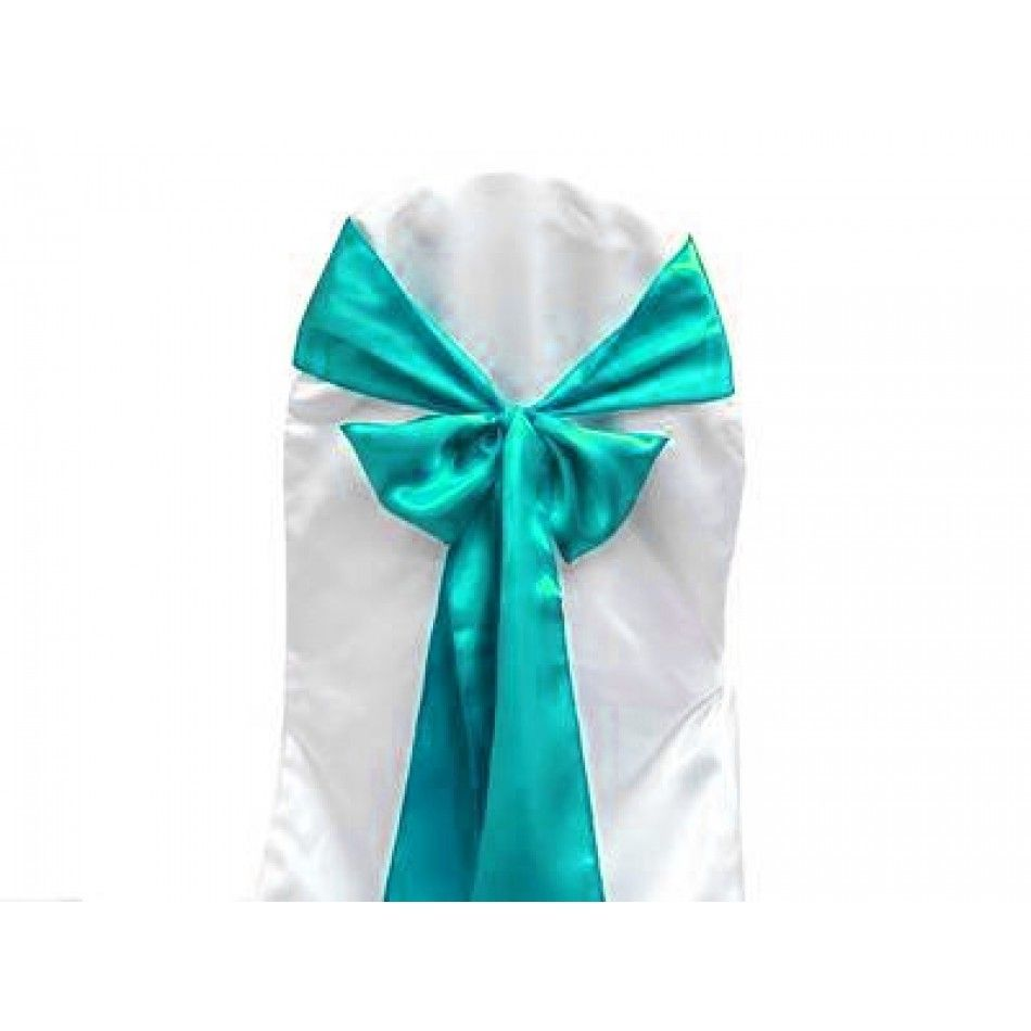 Satin Chair Sash Turquoise Blue Ef Satin Turquoise Chair Sash Wholesale Wedding S Diy Wedding Supplies Personalized Wedding Decor Discount Wedding Favors