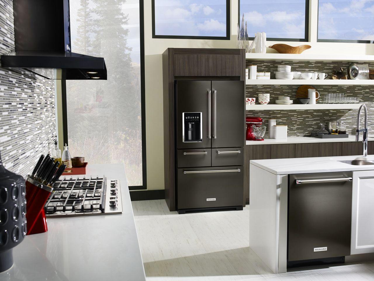 Kitchenaid Black Stainless Kitchen Appliances Chefs Cooks