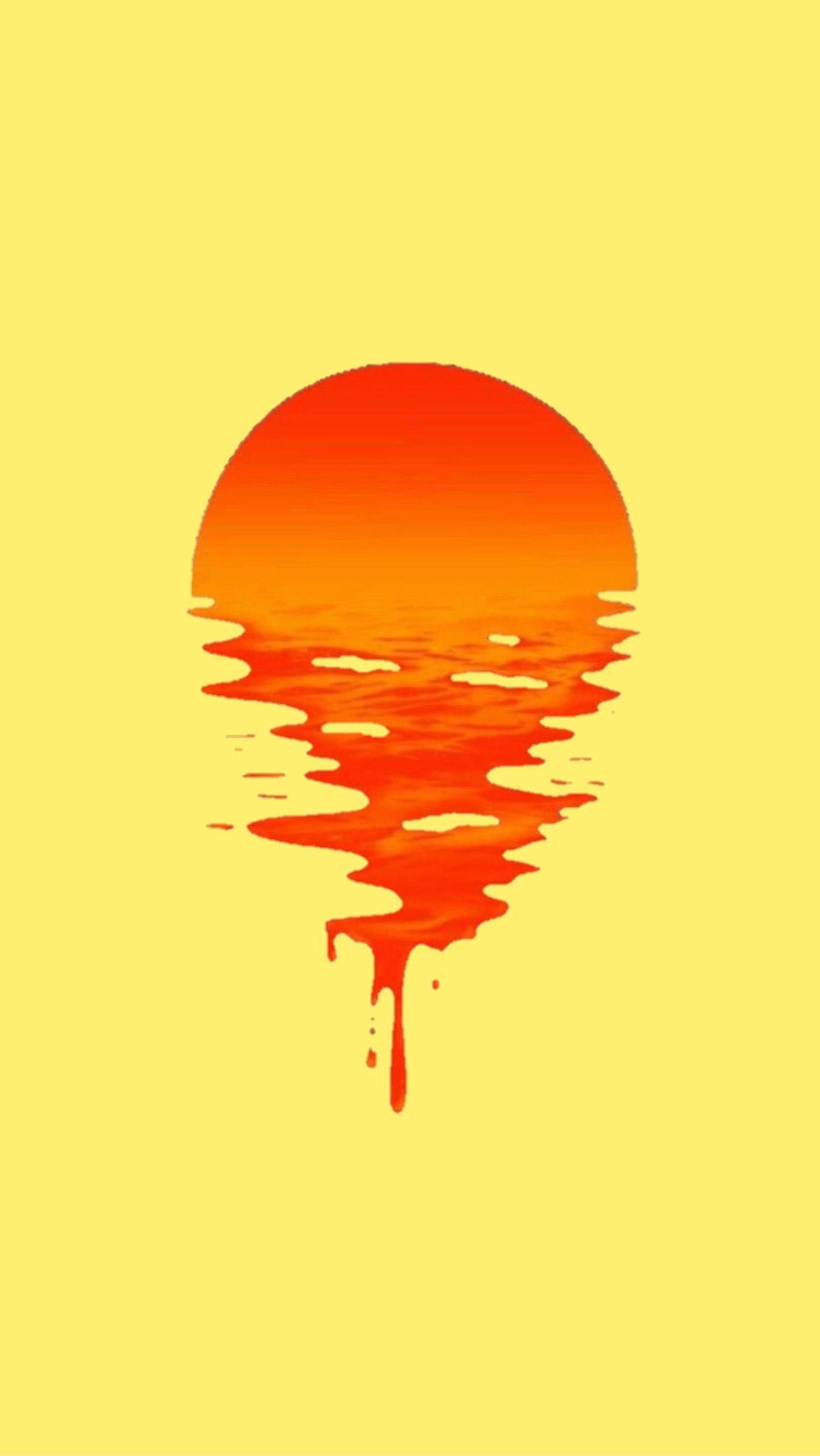 Yellow Red Orange Wallpaper Lockscreen Background Sunset