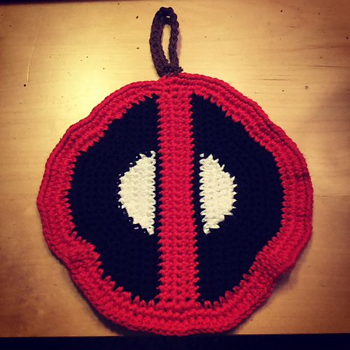 I Wanted Potholders With The Deadpool Logo But Didn T Find Any So