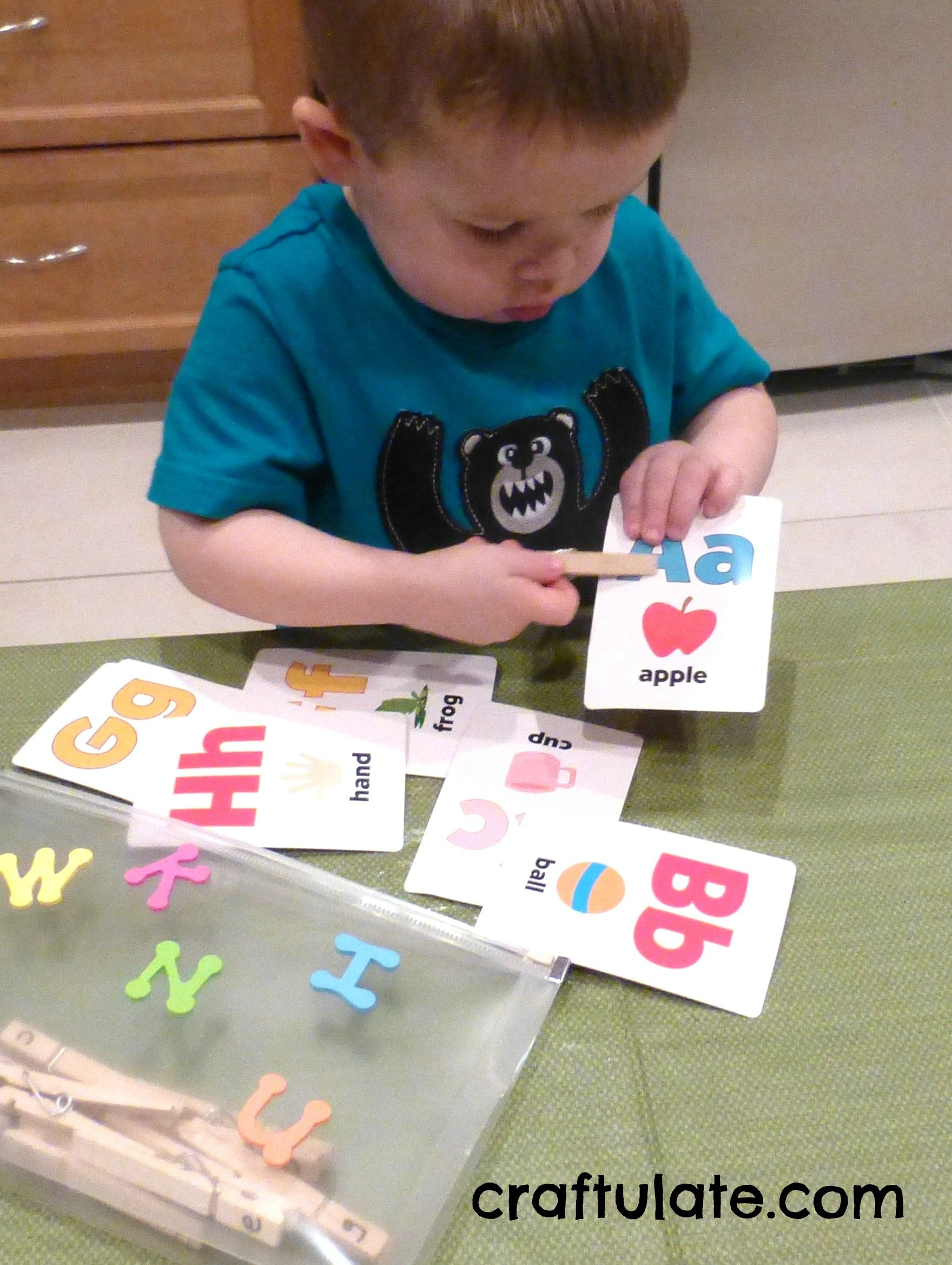 Clothespin Letter Match Busy Bag Fine Motor Fridays