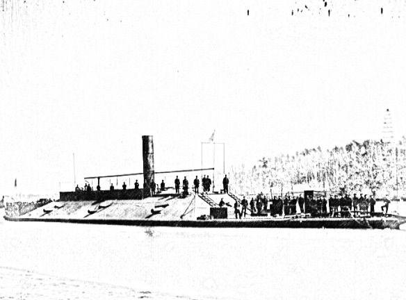 CSS Virginia. Confederate ironclad. Found an actual photo