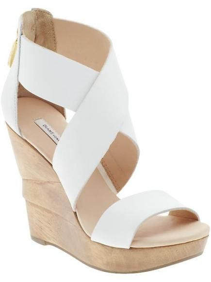 7128af37bc6e3 Diane von Furstenberg Opal Wedge If there's one thing you're sure to need  this season, it's a pair of white heels, but you want to avoid that