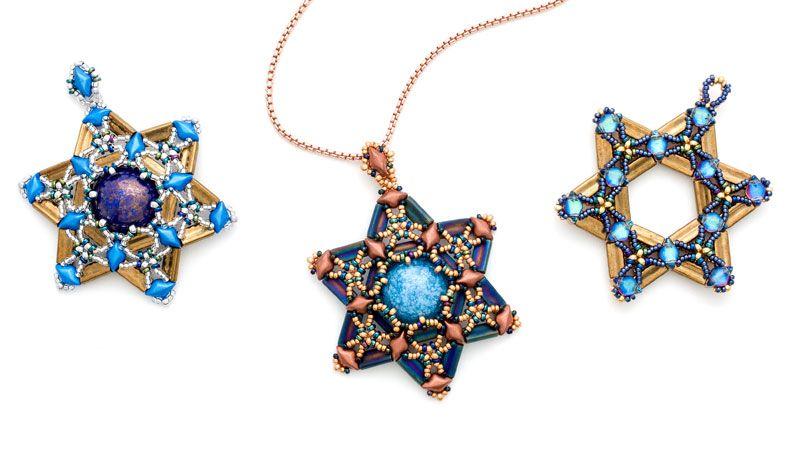 Star of David pendant ''free tutorial''