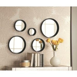 Threshold™ 5 Piece Round Mirror - Black : Target Mobile ...