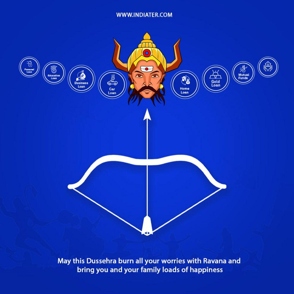 Free Happy Dussehra PSD Banner For Business Loan C