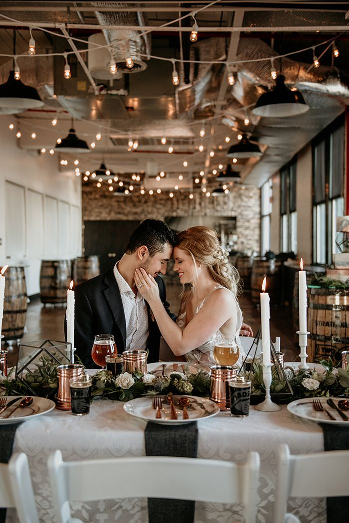 Indie Wedding Ideas at a Craft Brewery Свадьба