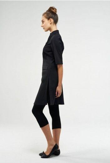Moderna long tunic dress with leggings leggings for Spa uniform tunic