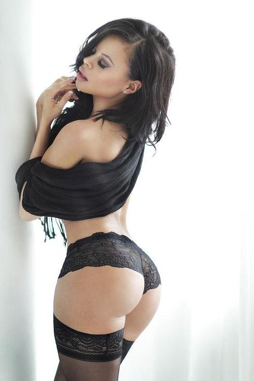 milf ass in panties Black