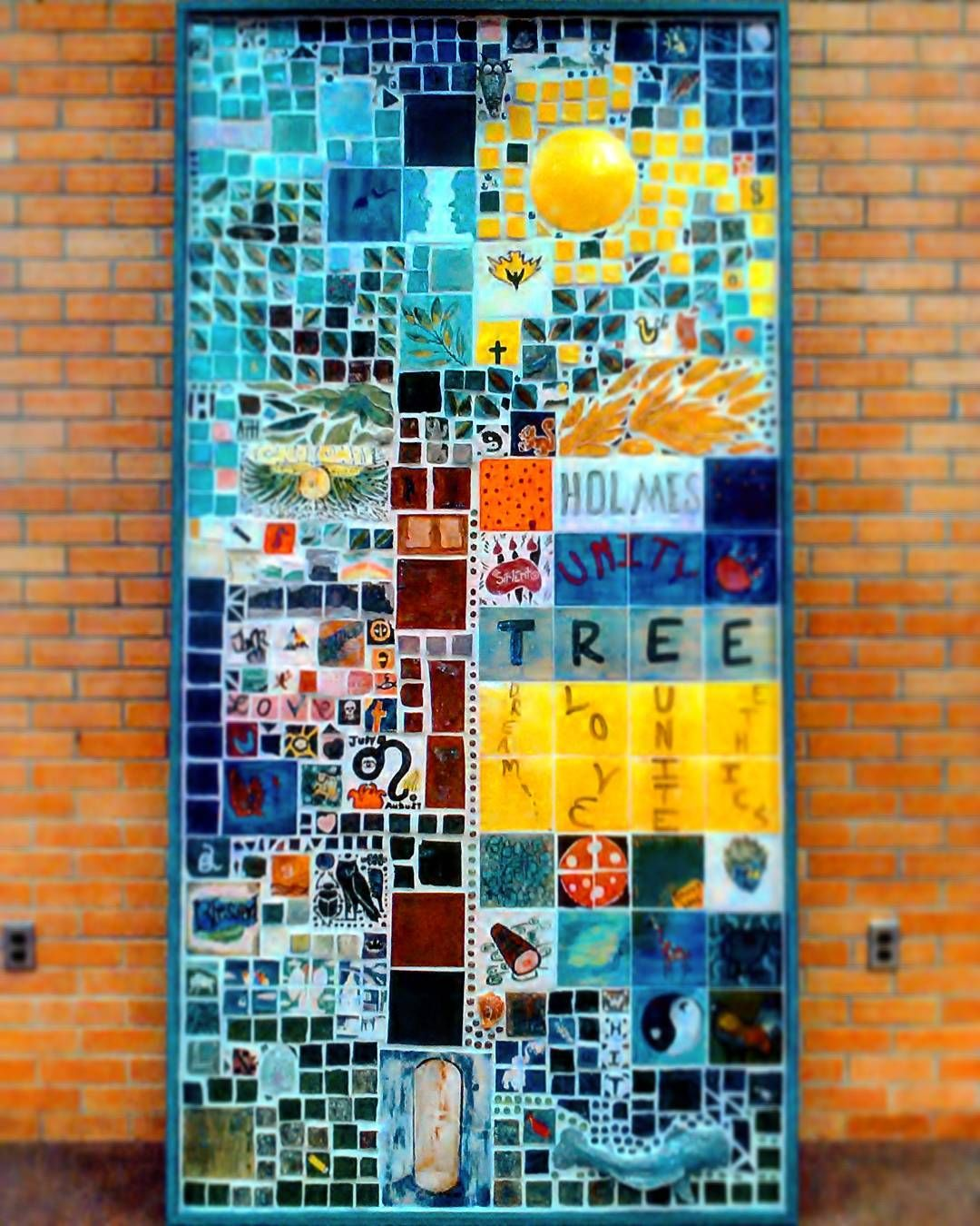 I made the bottom left of this #mosaic. #mural #college #memories ...