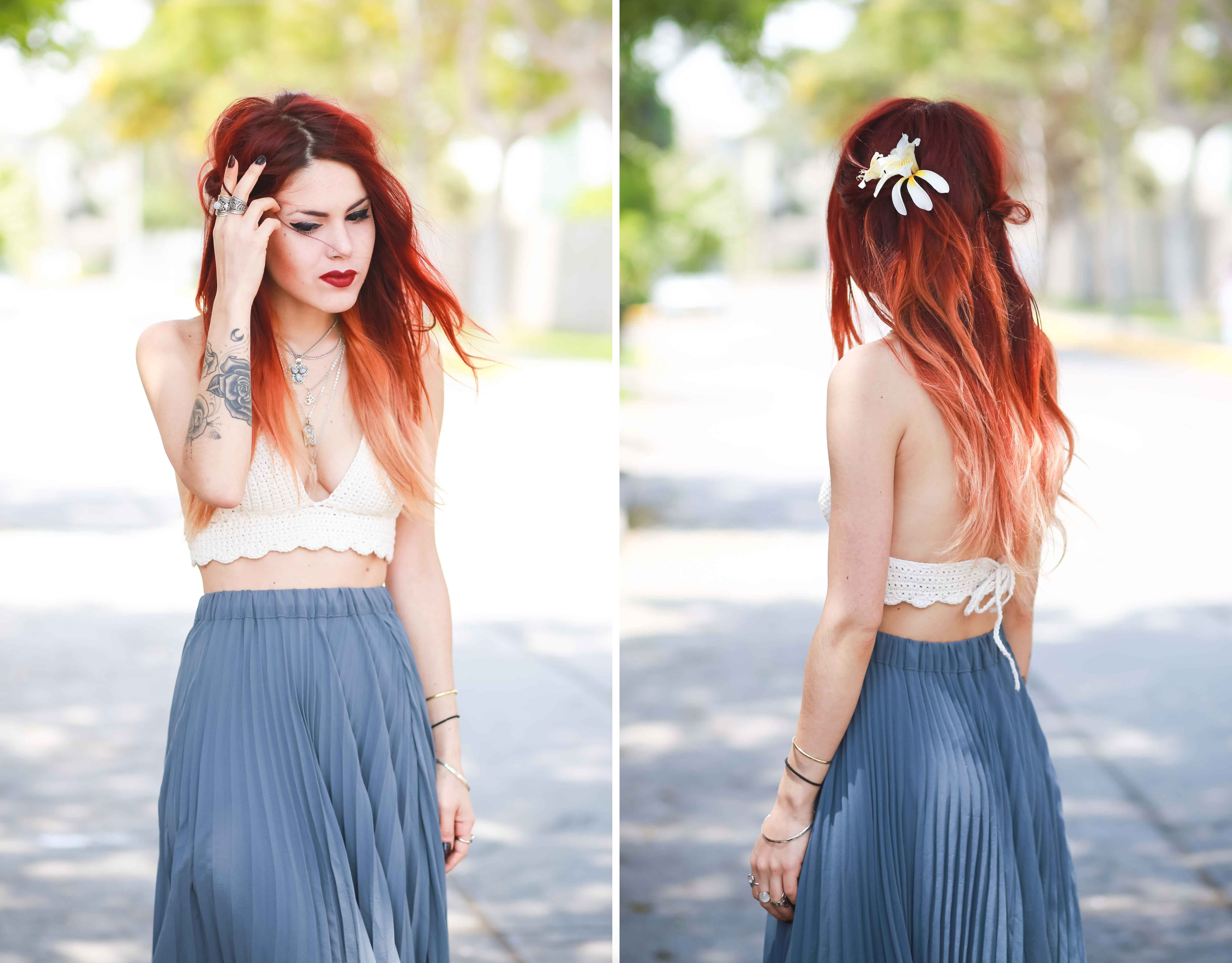 SUMMERTIME #hawaiin #maxiskirt