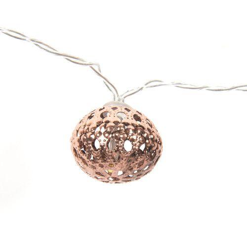 Guirlande lumineuse boules en métal L 147 cm COPPER NOMADE