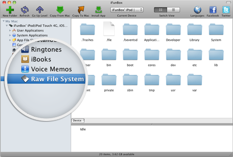 iFunBox for Mac   File Manager, Browser, Explorer