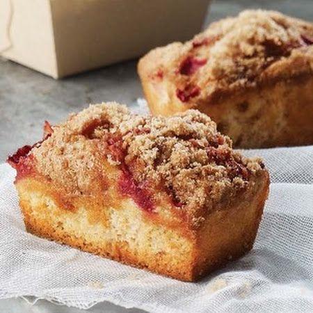 Panera Strawberry Rhubarb Mini Cake Recipe