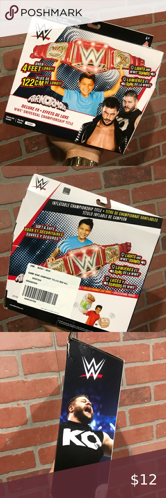 Airnormous Deluxe Wwe Championship Title Belt Wwe Wwe Toys Belt