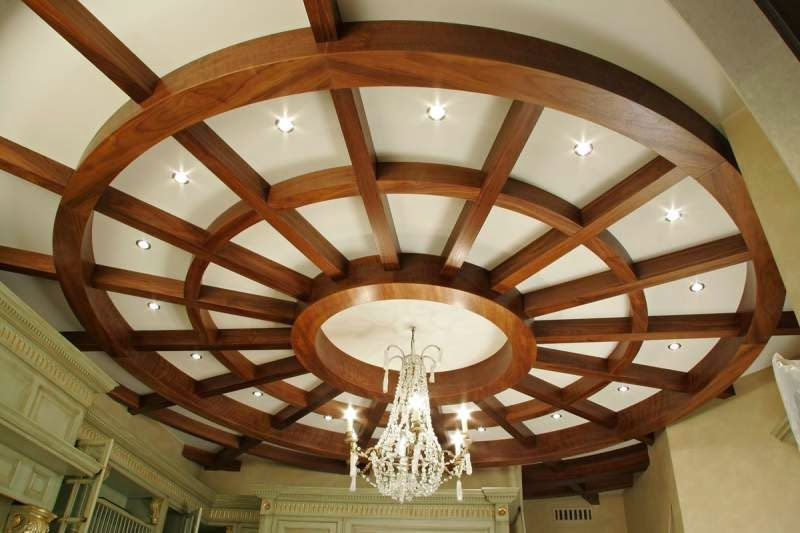 14 Gypsum False Ceiling Design With Wooden Decorations For Living Room 2015 Https False
