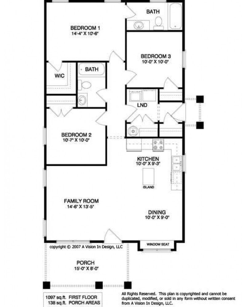 Unique House Plans 3 Bedroom: AmazingPlans.com House Plan #AVID2084