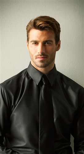 haircut in back in front tuxedosonline has this new mens black dress shirt with 9909