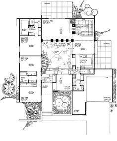 small house with courtyard - Google Search | floor plans ...