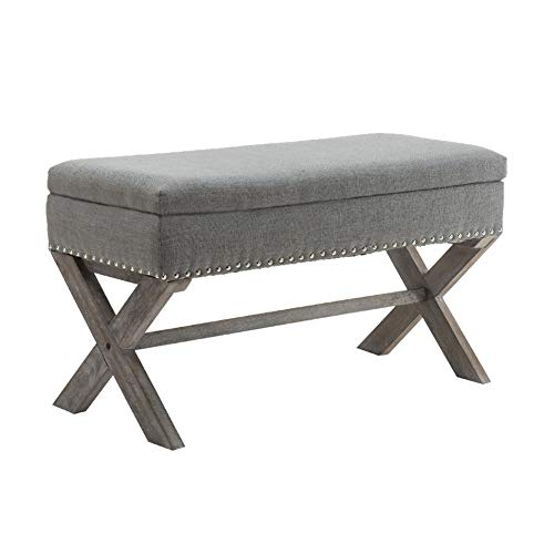 Amazon Com Chairus Fabric Upholstered Entryway Bench Seat 36 Inch Bedroom Bench Seat Wi In 2020 Upholstered Storage Entryway Bench Storage Upholstered Entryway Bench