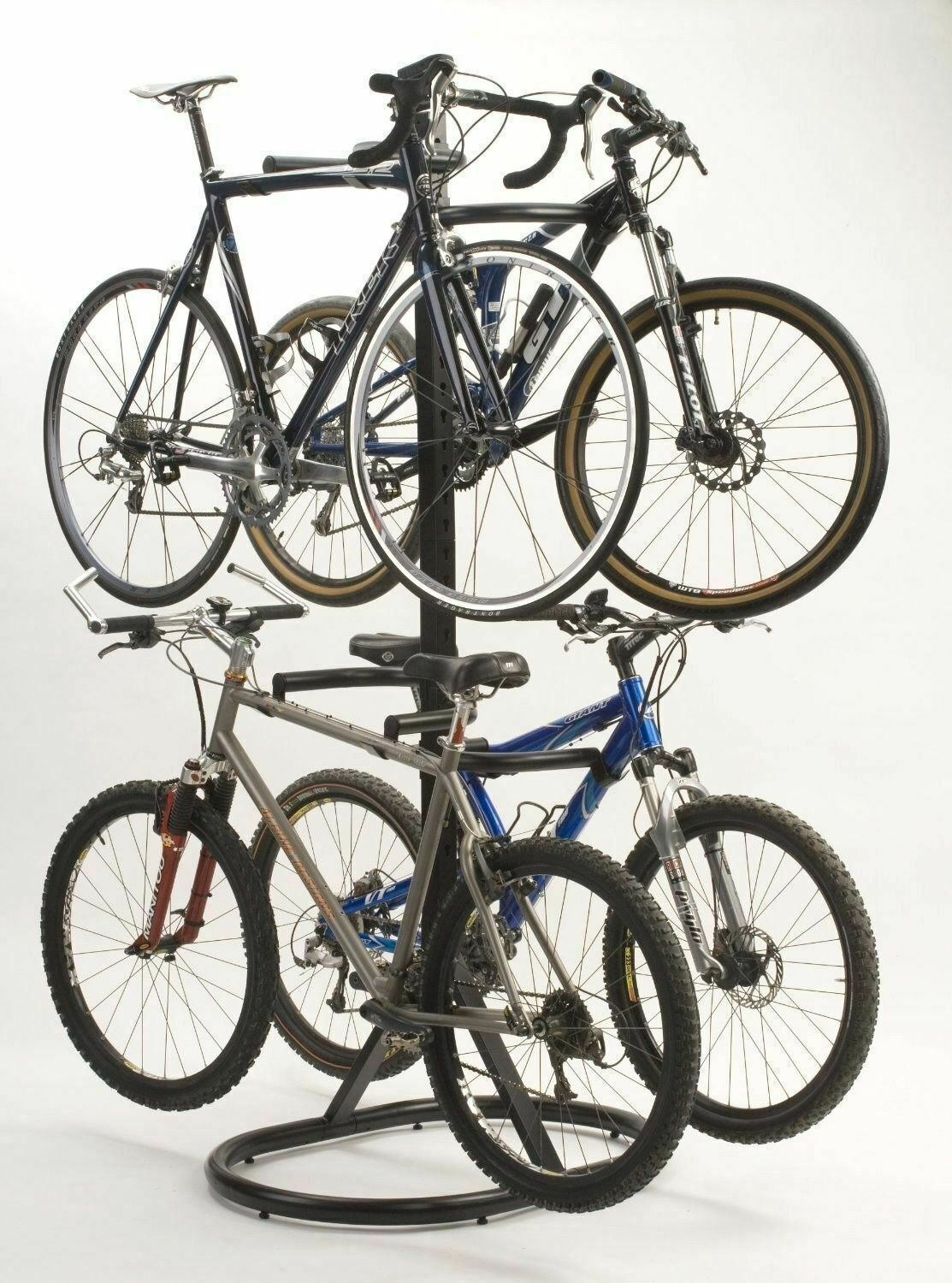 Details About New 4 Bike Rack Freestanding Bicycle Garage Indoor