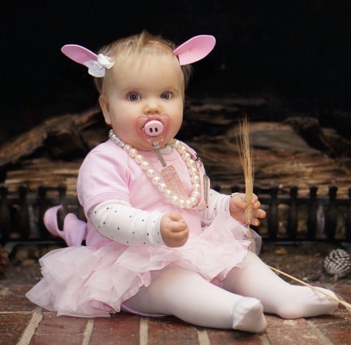 little piglet pig piggy diy halloween costume for baby