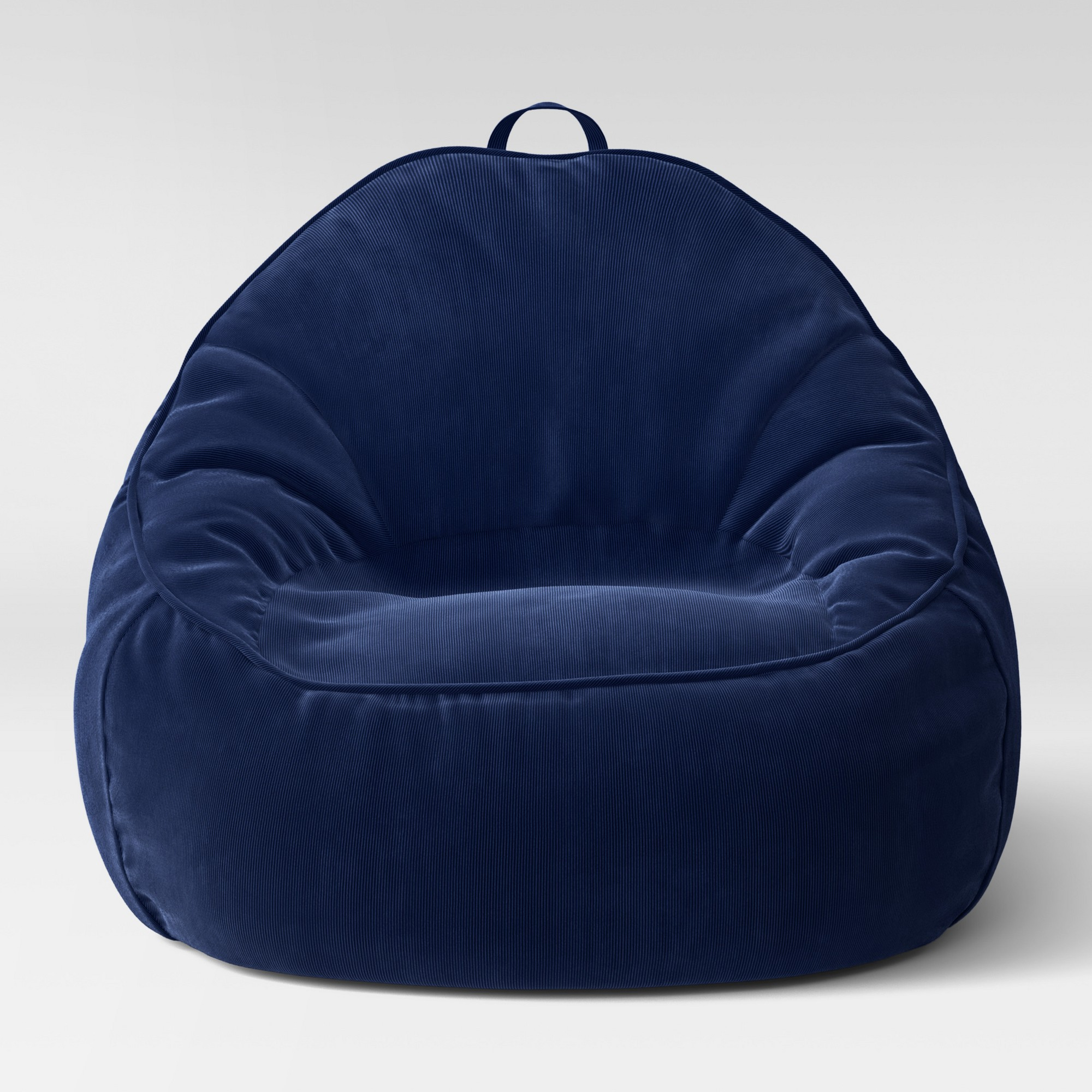 Fantastic Xl Structured Bean Bag Chair Removable Cover Corduroy Blue Frankydiablos Diy Chair Ideas Frankydiabloscom