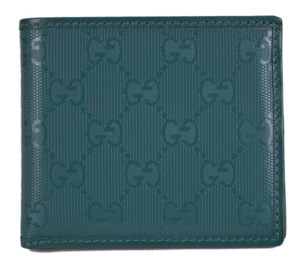 1964351576f New Gucci 145754 Men s Teal Imprime GG Guccissima Bifold Wallet  Gucci   Bifold