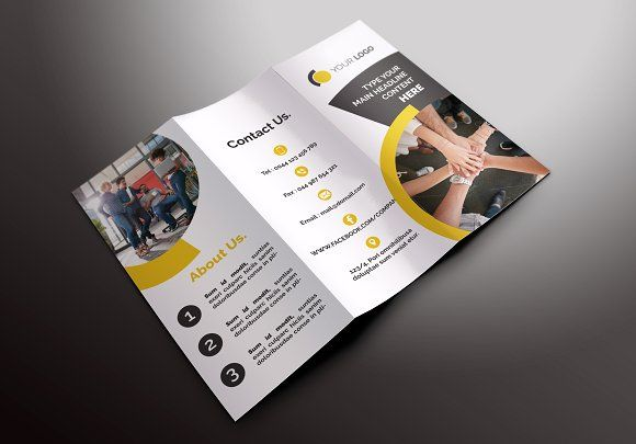 Business Tri-fold Brochures by Creatricks @layer3template #templates
