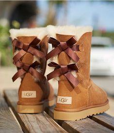 UGG Bailey Suede Bow II Boots | Dillard's