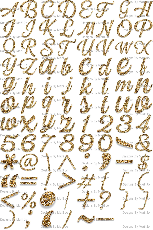 Gold Glitter Sparkly Letters Transparent Png Printable Alphabet Numbers Symbols Digital Download Cli Alphabet Printables Lettering Alphabet Small Letters