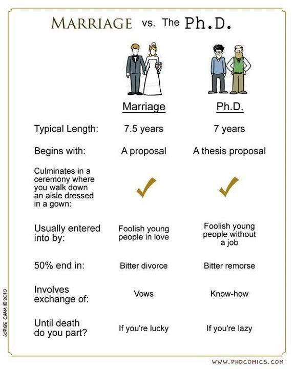 Marriage Vs Ph D 25 Years Old Bachelor S Degree Two Graduate