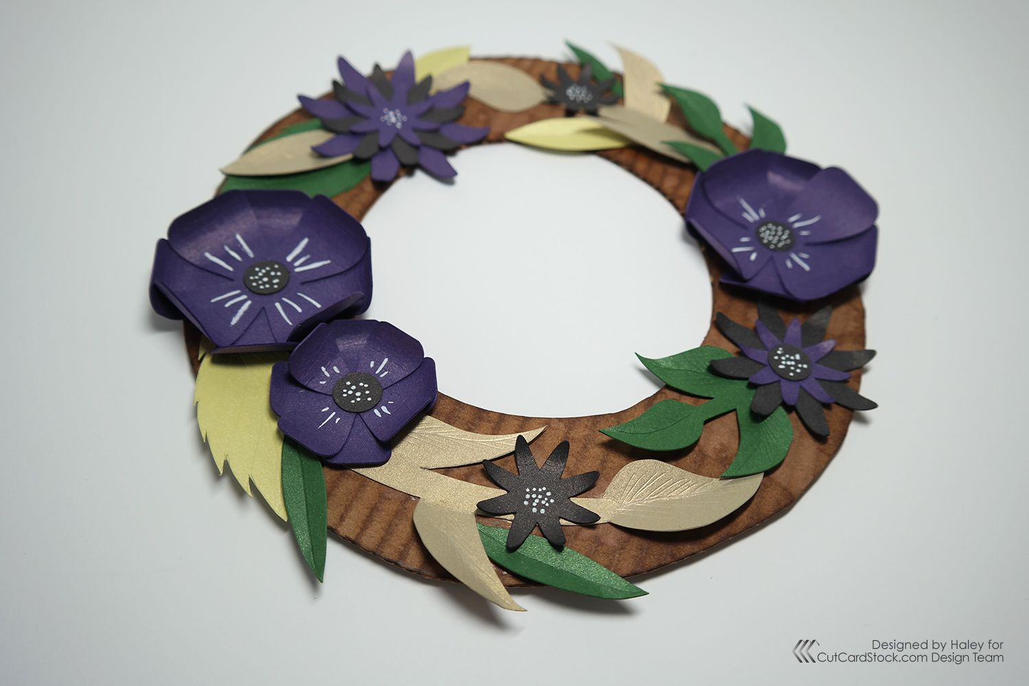 Diy floral paper wreath easter craft cards paper wreath