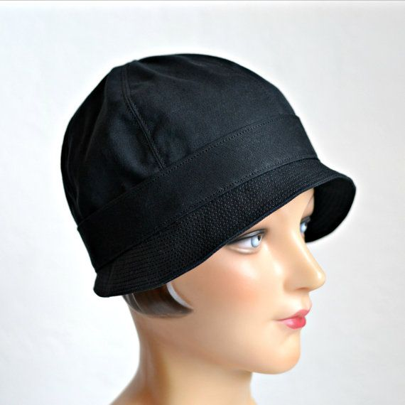 Cloche Rain Hat - Waxed Canvas Rain Hat - Made To Order - 4 to 6 WEEKS FOR  SHIPPING 22e33d8f0a4