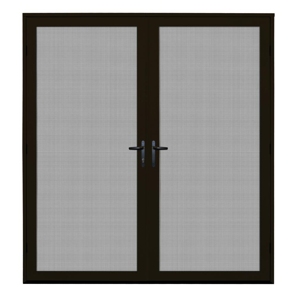 Unique Home Designs 64 In X 80 In Almond Surface Mount Ultimate Security Screen Door With Meshtec Screen 5v0002ul0al00b The Home Depot Security Screen Door Aluminum Screen Doors Unique House Design