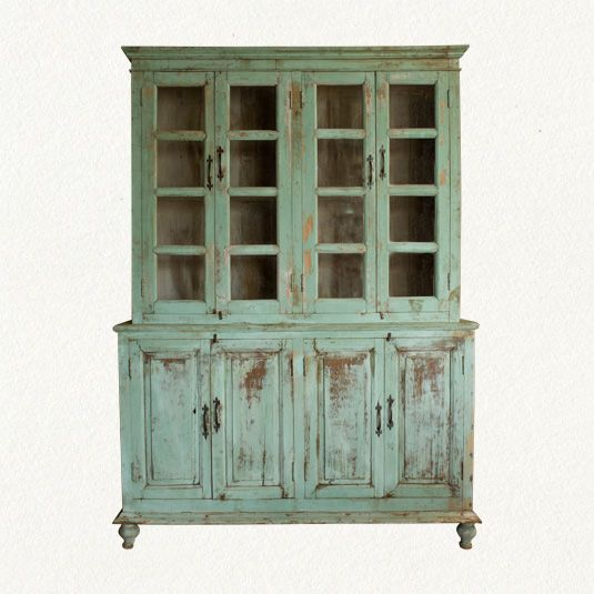 PANTRY Distressed Wood Cabinet - traditional - bookcases cabinets and  computer armoires - Terrain - Decorating. How To Make Furniture Look ... - Making Furniture Look Antique Antique Furniture