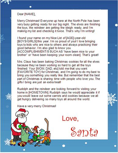 Print Free Santa Letters At Home Did This And The Letter Is