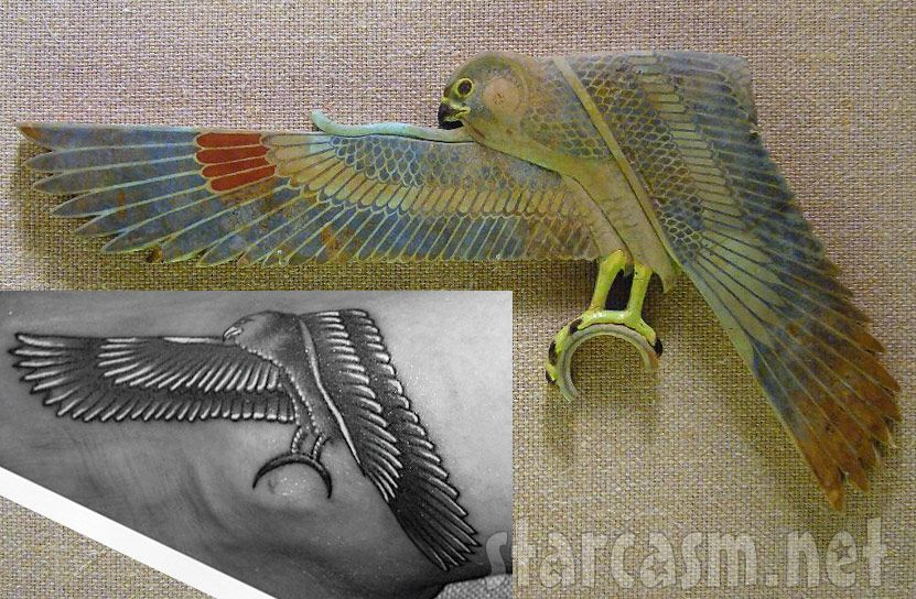 Egyptian Falcon Rihannas Egyptian Falcon Tattoo Inspiration My