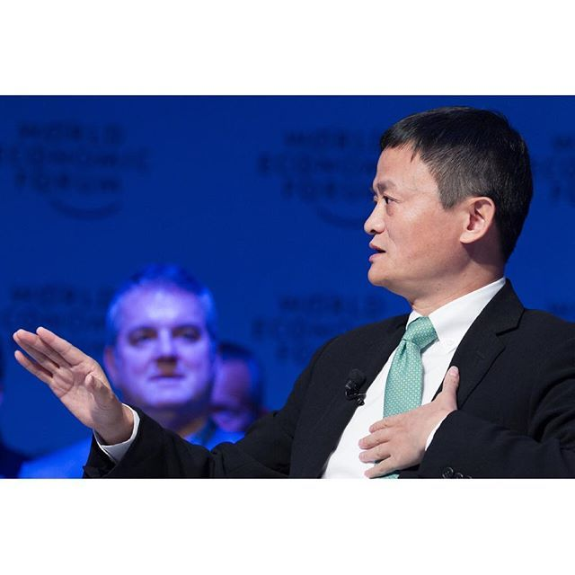 Jack Ma, Executive Chairman, Alibaba Group, People's Republic of China speaking during the session: An Insight, An Idea with Jack Ma at the Annual Meeting 2017 of the World Economic Forum in Davos, January 18, 2017 Copyright by World Economic Forum / Greg Beadle #worldeconomicforum #am #am17 #wef #davos