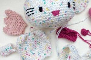 Häkeln Hello Kitty Engel Engel Mit Herz Teil 5 Flügel