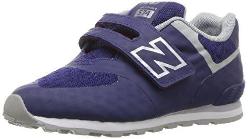 New Balance 574, Zapatillas con Velcro infantil, Azul (Aqua Foam), 28 EU