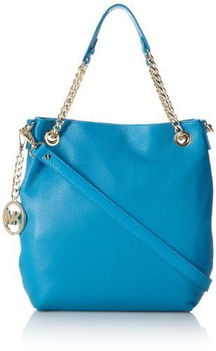Michael Kors Jet Set Chain Item Summer Blue   Michael Kors Jet Set Chain Item Summer Blue The Michael Kors Jet Set Item Chain is the perfect on the go handbag. Featuring double chain handles, the optional strap gives you variety in style.  http://www.yearofstyle.com/michael-kors-jet-set-chain-item-summer-blue/