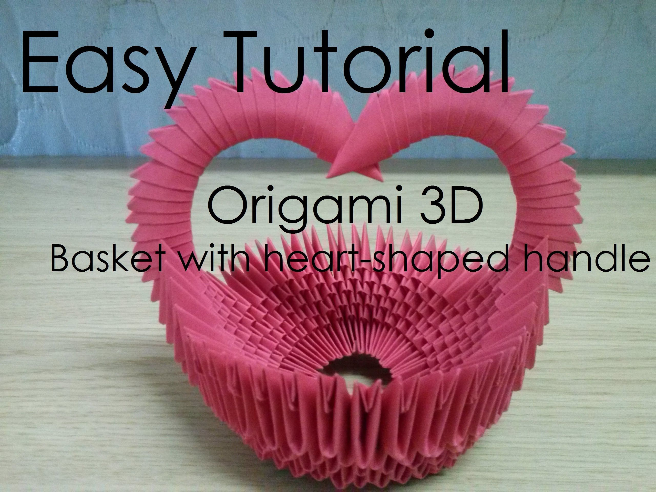 Easy tutorial origami 3d basket with heart shaped handle easy tutorial origami 3d basket with heart shaped handle jeuxipadfo Gallery