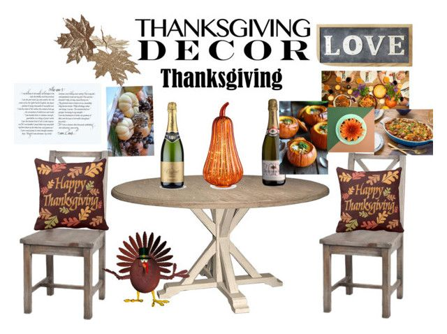 """""""thanks for giving"""" by moniquevincent ❤ liked on Polyvore featuring interior, interiors, interior design, home, home decor, interior decorating, Parlane, Improvements and ThanksgivingDecor"""
