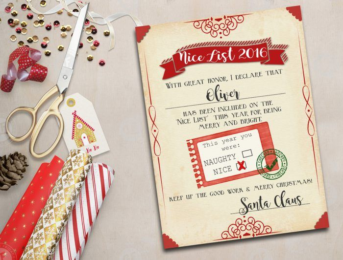 Santa nice list free printable certificate nice list free print your free santa nice list certificate kids will love to see their note from santa such a cute naughty or nice free printable certificate signed yadclub Gallery